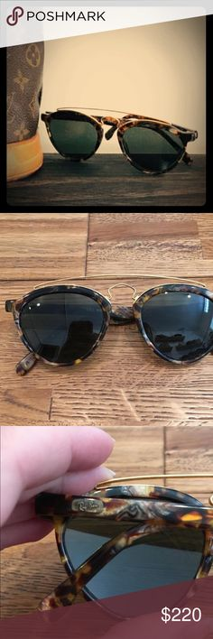 "Ray-Ban W1523 Gatsby Style 8 Sunglasses Preloved Vintage Ray-Ban W1523 Gatsby Style 8 sunglasses dare practically new. This Ray-Ban W1523 Gatsby frame measures approximately 5.25"" temple to temple, and the G-15 mineral glass lenses measure approximately 1.875"" x 1.75"" at the widest points with both lenses laser etched BL near the hinges. You'll find the Ray-Ban logo on a gold tab on the exterior of both ear stems, and the inside of one ear stem is marked B&L Ray-Ban while the inside of the…"