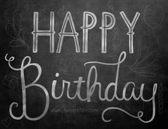 Happy Birthday Chalkboard by Sweet Elsie