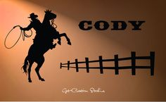 Hey, I found this really awesome Etsy listing at https://www.etsy.com/listing/246579446/cowboy-roping-decal-western-wall-decal