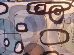 Simple abstract layers. Stones. Could be elephants. Hand painted silk. www.stonewellstudio.com