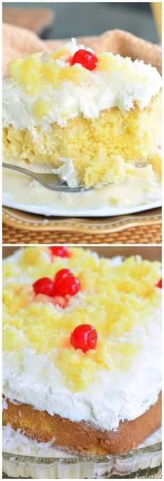 Soft, sweet milks soaked Tres Leches cake made with the wonderful coconut and pineapple flavors. It's the BEST cake in the world! Best Dessert Recipes, Cupcake Recipes, Easy Desserts, Mexican Food Recipes, Sweet Recipes, Delicious Desserts, Cupcake Cakes, Cupcakes, Cheesecake Recipes