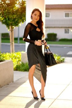 jessica ricks hot tight dress black heels Imgur
