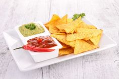 Potato chips and dip platter