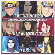 Never touch my girl. this takes away my heart. Naruto Uzumaki, Sasuke Shippuden, Sasuke Sakura Sarada, Naruto Art, Itachi, Anime Naruto, Boruto, Shikatema, Sasuhina