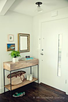 simple, functional, inviting entrance.