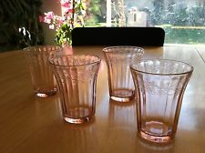 Jeannete Glass Pink Cherry Blossom 4 oz. tumblers