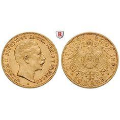 Deutsches Kaiserreich, Preussen, Wilhelm II., 10 Mark 1899, A, ss+, J. 251: Wilhelm II. 1888-1918. 10 Mark 1899 A. J. 251; GOLD,… #coins