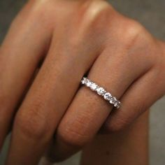 wedding band with simple solitaire engagement ring by meganinja #diamondweddingbands