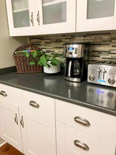 DIY Kitchen Counter Filing System | Hometalk Diy Kitchen, Kitchen Decor, Kitchen Cabinets, Kitchen Ideas, Binder Dividers, Old Baskets, Paper Clutter, Filing System, Around The Corner