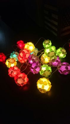 My own diy origamiballs with lights 😊