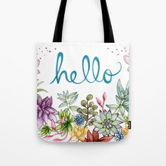 hello spring Tote Bag by Brooke Weeber   Society6