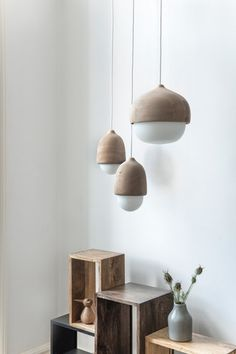 The Mater Terho Lamp is designed by the Finnish designer Maija Puoskari. Inspired by nature, Terho means 'acorns' in Finnish and simply refers to the organic an