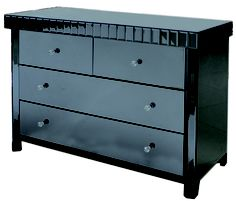 Smoke Black Mirror 4 Drawer Chest | Oooh so sexy!!