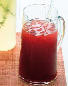 Hibiscus-Honey Iced Tea - serve this sweet drink with or without rum for a refreshing summer treat