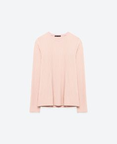 Image 8 of LONG SLEEVE RIBBED TOP from Zara