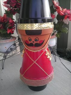 Nutcracker made from clay pots