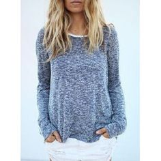 Stylish Off-The-Shoulder Long Sleeve Loose-Fitting Sweater For Women | NastyDress.com