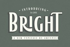 Bright Font by AMTYPES. on @creativemarket
