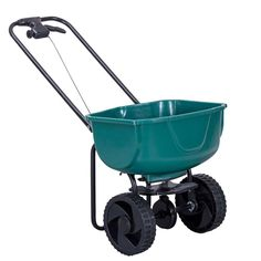 Imtinanz Modern Garden Seeder Push Walk Behind Fertilizer Broadcast Spreader > Brand new and high quality This spreader is perfect for garden seeding and fertilizing 44 lbs hopper capacity & rustproof poly construction