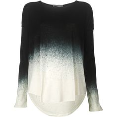 Rabens Saloner Long Sleeve Stardust T-shirt ($135) ❤ liked on Polyvore Ombre Shirt, Ombre Sweater, Dress Me Up, Coven, Pullover, Sweatshirt, Hoodie, Dip Dye Shirt, Slouchy Shirt