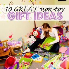 10 GREAT non-toy Gift Ideas for Kids!! I especially love the lessons and performance ideas! #giftideas #kidgifts