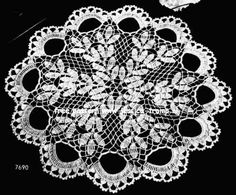 Doily 7690    Home Favorites in Crochet  Book No. 214  The Clark Yarn Company 1944