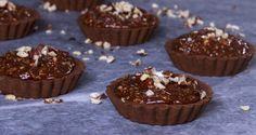 Ατομικά ταρτάκια σοκολάτας φουντουκιού Συνταγή | Άκης Πετρετζίκης