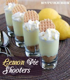 Lemon Pie Shooters are perfect mini desserts!