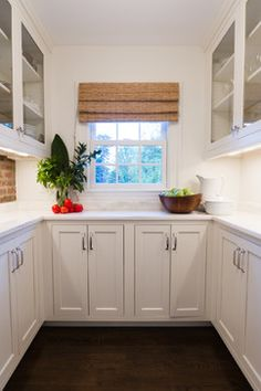 Alcove in kitchen turned into pantry