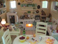 It's a small world - mini kitchen cute play kitchen mini dollhouse dolls