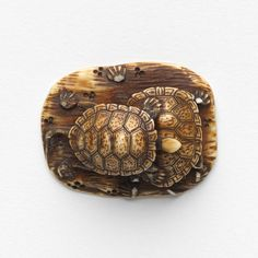 Two tortoise, Netsuke (late 18th century-19th century)  JAPANESE