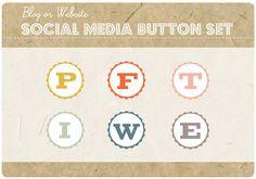 6 Blog or Website VINTAGE BOTTLE CAP Social by StarlingMemory, $20.00 Vintage Floral, Etsy Vintage, Social Media Buttons, Website, Bottle, Blog, Handmade, Cap, Google Search