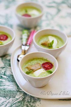 Soupe froide de courgettes, mozzarella et thon