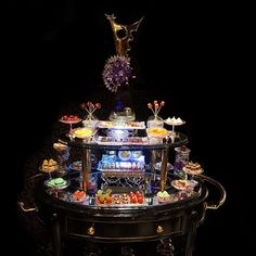 The migniardises dessert cart.  Dozens of mini pastries fresh tarts chocolate bon bons (molded and enrobed) macarons nougats caramels religieuses eclairs chocolate lollipops and the list goes on. Created by Chef Salvatore Martone at Joel Robuchon Las Vegas worked on daily by our pastry team. Every diner partakes after dessert every single time... #sweet #pastry #pastries #pastrychef #gourmetartistry #theartofplating  #fourmagazine #thestaffcanteen #dontshootthechef #gastroart #foodporn #food…