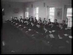 Scenes of classroom and graduation from a Universal Newsreel My Grandpa was an operator on the Enterprise during WWII and went through something like this. Morse Code, Wwii, Coding, Youtube, World War Ii, Youtubers, Programming, Youtube Movies