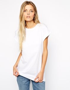 Enlarge ASOS Boyfriend T-Shirt with Roll Sleeve