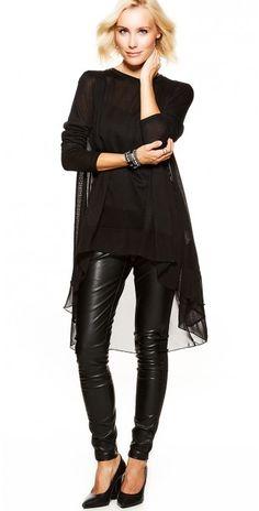 LikeLondon tunika svart med fräck lång rygg 4647567951b1e