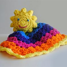 You Are My Sushine Free Crochet Lovey Pattern