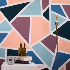 Wall Painting Living Room, Wall Painting Decor, Diy Wall Decor, Diy Painting, Painting Designs On Walls, Painted Wall Murals, Room Paint Designs, Creative Wall Painting, Creative Walls