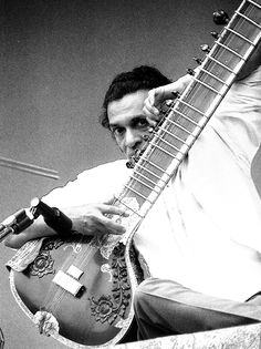 Ravi Shankar at Monterey Pop Festival, 1967.
