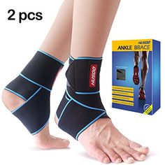 Ankle Brace Husoo Ankle Support with Adjustable Velcro One Size Fits AllAnkle Wrap for Sports Protect Ankle Sprain Ankle Pain Arthritis Plantar Fasciitis Injury Pair gray -- You can get additional details at the image link. Volleyball Ankle Braces, Plantar Fasciitis Support, Best Soccer Cleats, Weak Ankles, Ankle Joint, Sprained Ankle, Compression Sleeves, Injury Prevention, One Size Fits All
