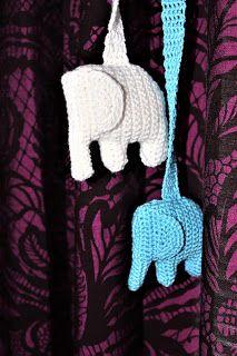"""Kirstenvilla: Virkattu norsu vaunulelu ohje + """"Maileg"""" pupu"""