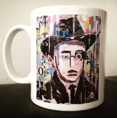 😊 FERNANDO PESSOA 😊 MUG COLLECTION by ©philippe patricio 😊 small edition by the artist 😊 more info: philippe.patricio.art@gmail.com 😊 Print Artist, Lisbon, Collage Art, Portugal, Portraits, Mugs, Printed, Collection, Decor