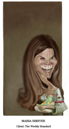 Best female caricature Maria Shriver