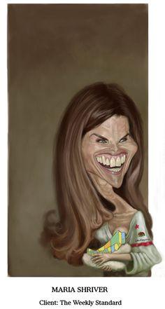 Best female caricature Maria Shriver