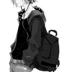 Ford usually has a loaded back pack with all his homework, and art supplies :)