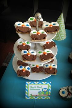 Owl party food s'mores and owl themed bday ideas or Halloween treats