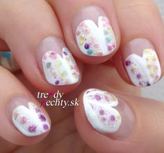 White manicure, dotted manicure, nail art