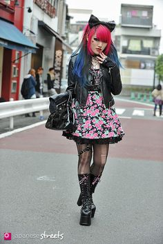 FASHION JAPAN: Risa (Lisa13) (Harajuku,Tokyo,CECIL McBEE,one way,Question mark,Vivienne Westwood)