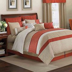 The warm and welcoming Pelham comforter set comes alive with piecing that will bring an eye-catching interplay of color and texture into your bedroom. Includes matching pillow shams and bed skirt for an easy way to update your bed in this exciting style.
